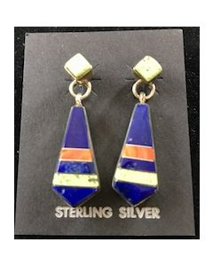 Tri Color Coral Earrings