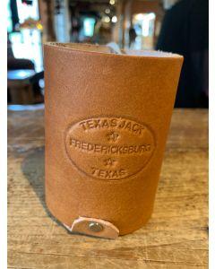 Texas Jack Leather Can Koozie