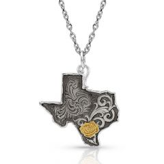 Montana Silversmiths Yellow Rose of Texas Necklace