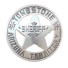 Sheriff Tombstone A.T. Badge