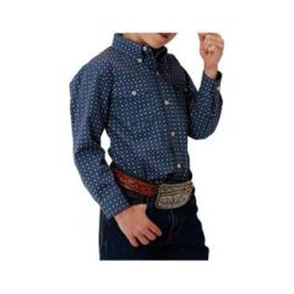 Roper Boys Long Sleeved Shirt Solid