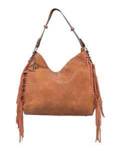 Kadie Ashman Jody Brown Side Fringe Vegan Leather Handbag
