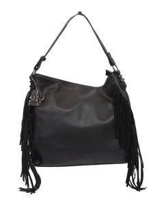Kadie Ashman Gray Side Fringe Handbag