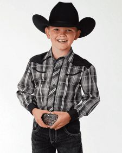 Roper Boys Retro Contrast Fancy Yoke Shirt