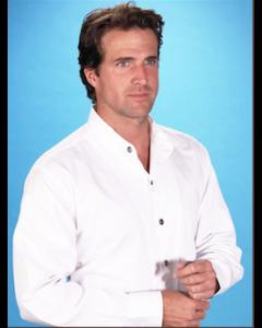 Men's 100% Cotton Banded Collar Shirt