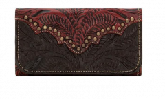 American West Annie's Secret Collection Ladie's Tri-Fold Wallet Chocolate