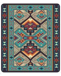 El Paso Saddleblanket El Cid Luxury Plush Queen Size Blanket