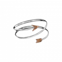 Vogt Whitney Copper and Sterling Silver Arrow Bracelet