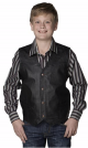 Cripple Creek Boys Black Leather Vest