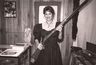 Mary Lou with rifle - Shot Show 1989