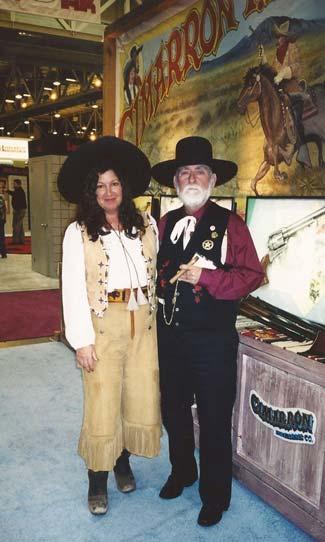 ML and Judge Roy Bean at SS 2001